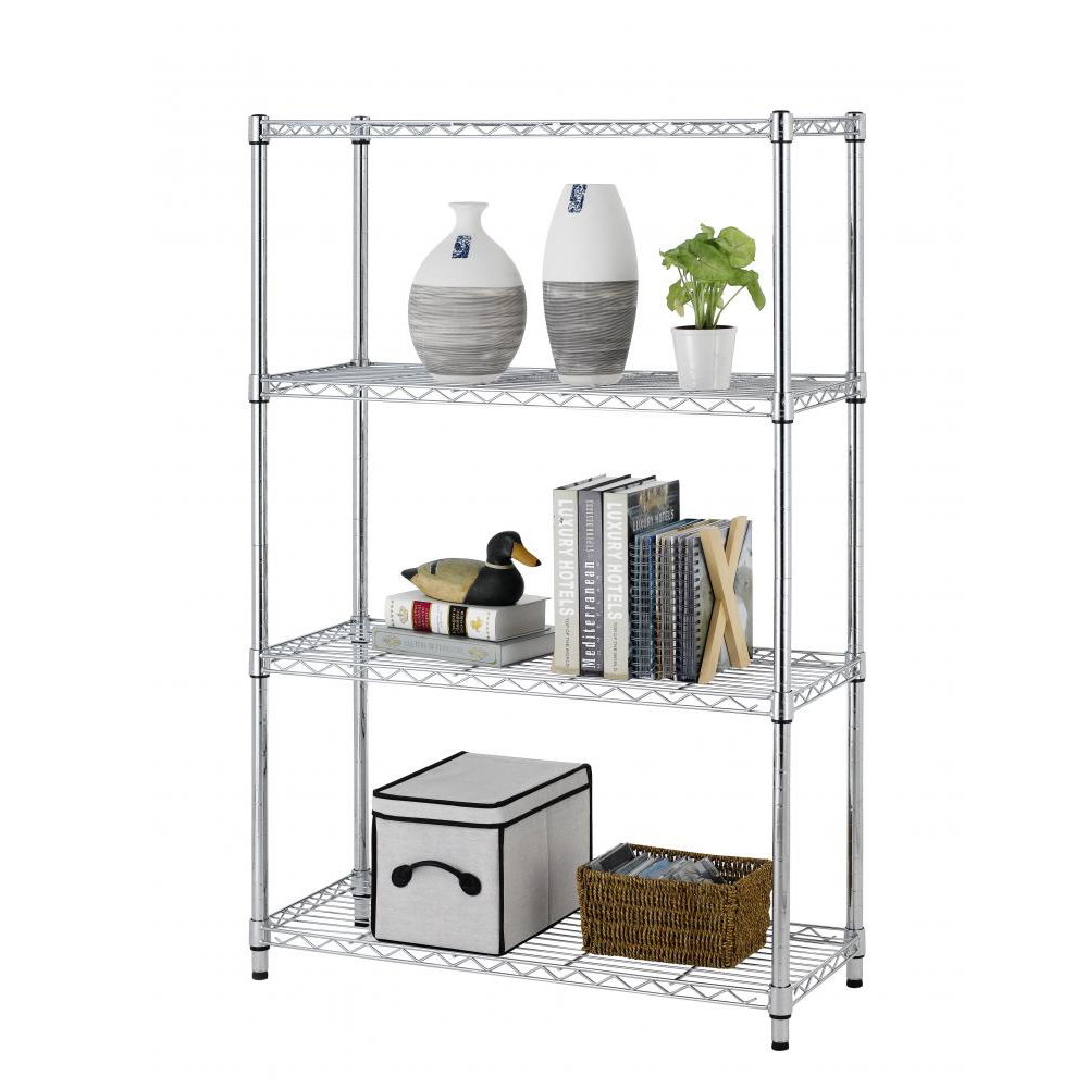 "Chrome 36""L x 14""W x 54""H Wire Metal Shelving Rack Storage Organizer"
