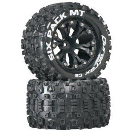 Duratrax Sixpack MT 2.8 Truck 2WD Mntd 1/2 Offset C2 Tires (2-Piece), Black