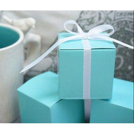 Robin Egg Blue Turquoise Wedding Favor Gift Boxes Baby Shower Set of 10
