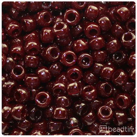 Maroon Bread Plate (BeadTin Dark Maroon Opaque 9mm Barrel Pony Beads (500pcs) )