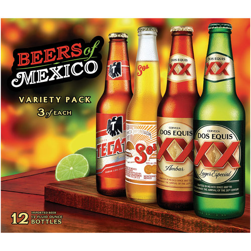 Beers of Mexico Fiesta Pack, 12 fl oz, 12-Pack
