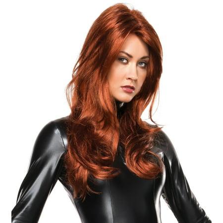 Adult Womens Black Widow Wig Costume - Black Women Wigs