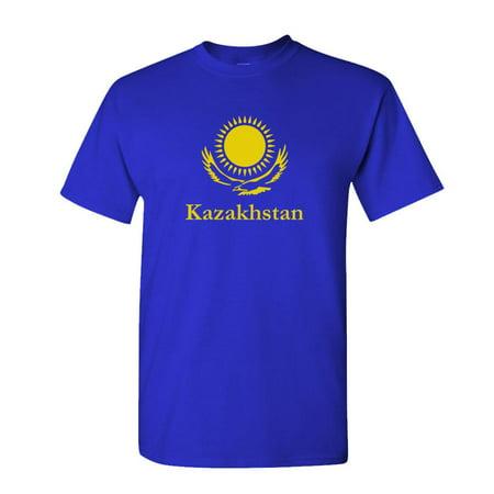 (KAZAKHSTAN - borat funny movie middle east - Cotton Unisex T-Shirt (XL,Royal))