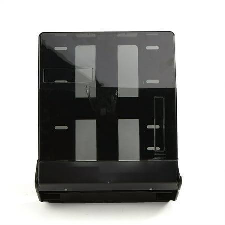 Mind Reader Dark Translucent C-Fold Multi-Fold Surface-Mounted Paper Towel Dispenser, Black