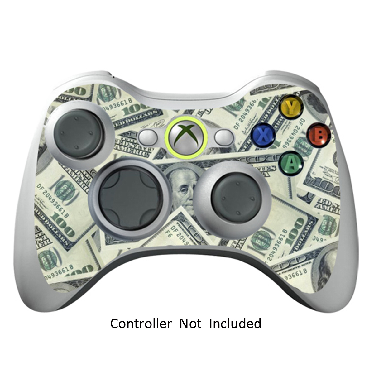 Skin Stickers for Xbox 360 Controller - Vinyl Leather Texture Sticker for X360 Slim Wired Wireless Game Controllers - Protectors Stickers Controller - Big Ballin