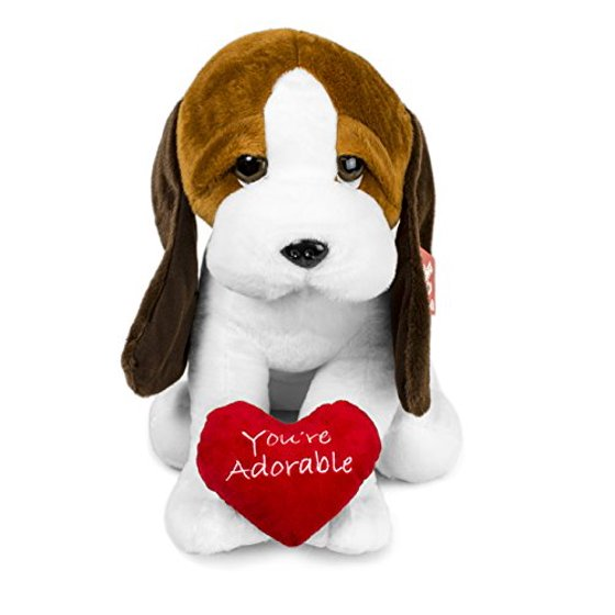 Petting Zoo Stuffed Plush Hound Dog With Heart Walmart Com