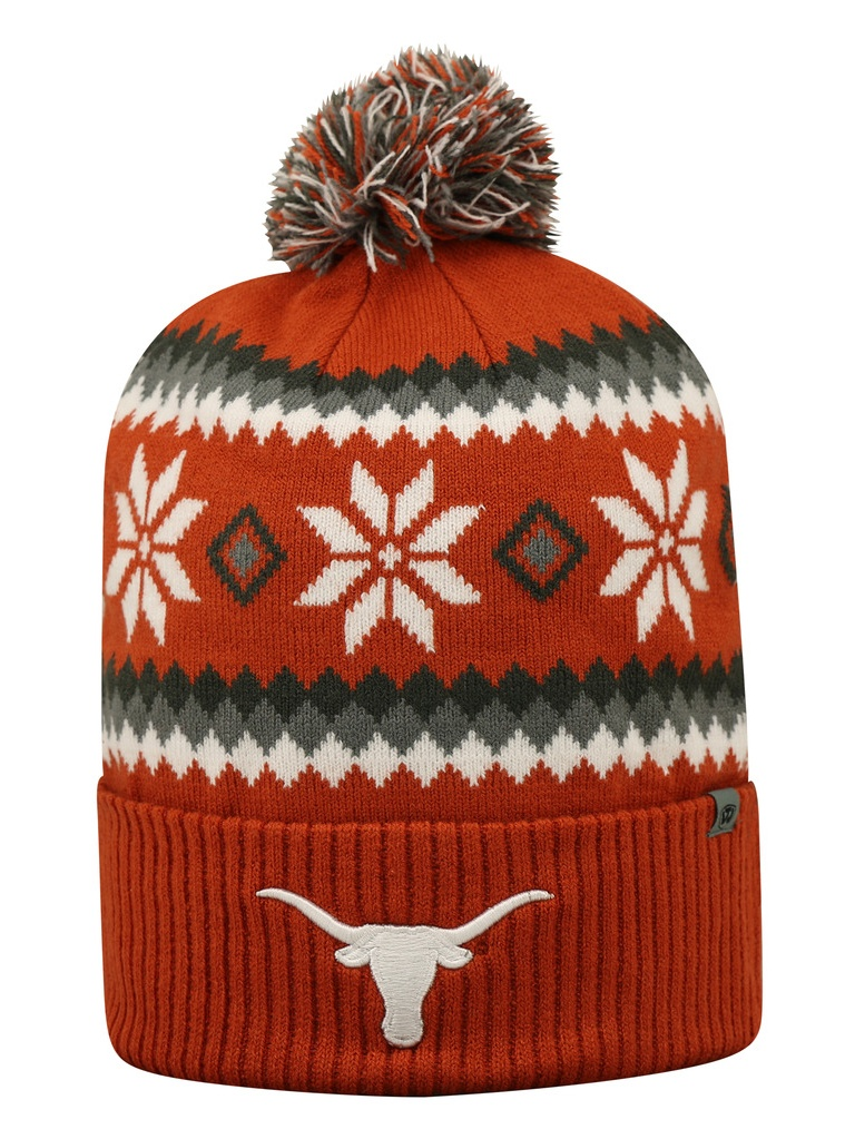 Texas Longhorns Official NCAA Fogbow Cuffed Knit Beanie Stocking Hat Cap 253361 by Champions On Display
