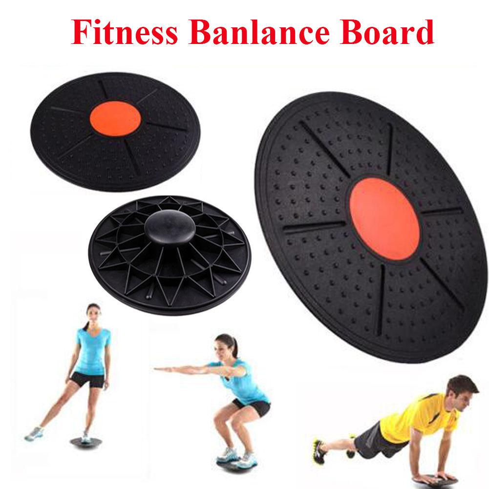 "14""Plastic Round Wobble Balance Board Black by"
