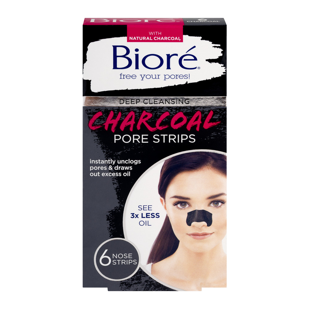 Biore Deep Cleaning Charcoal Pore Strips - 6 CT