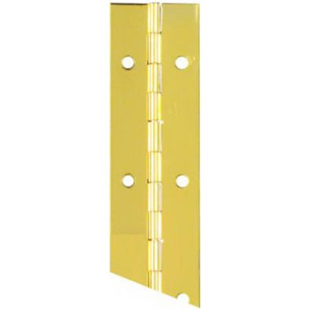 Stanley N148-155 1.5 x 30 in. Bright Brass Finish Continuous Hinge