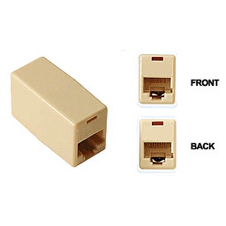 Cat5 Rj 45 White Coupler - RJ45 Coupler Female to Female Ethernet F-F Converter by BattleBorn Cable - NEW
