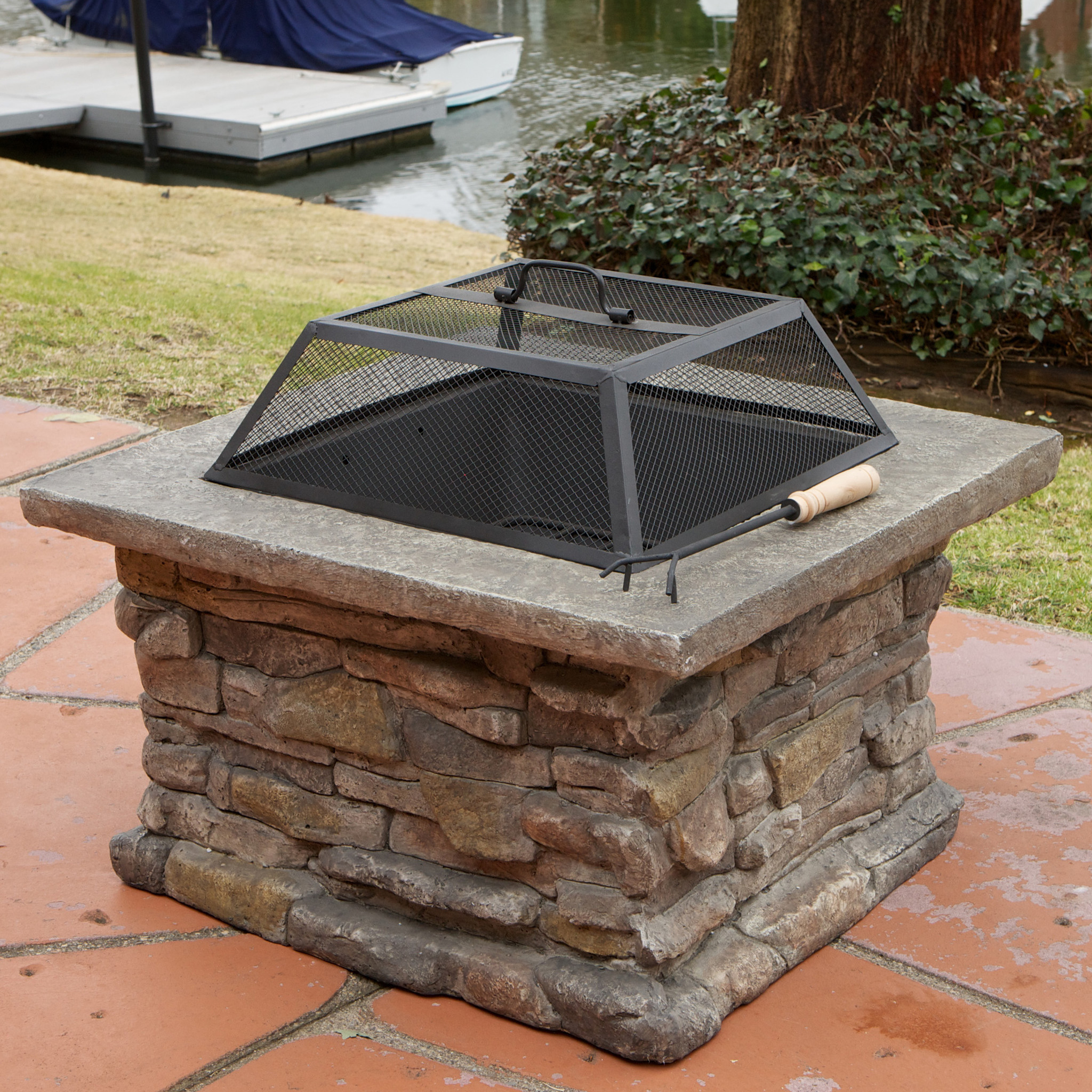 Applachian Square Firepit by NFusion