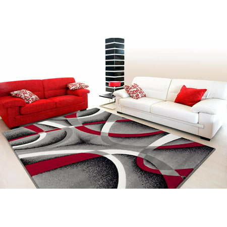 Persian Rugs 2305 Gray Modern Abstract Area Rug 10x13 Tabriz 10x13 Persian Rug