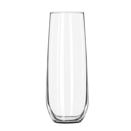 Stemless Flute Glass - Libbey 8.5 oz. Stemless Flute Glasses in Clear, Set of 12