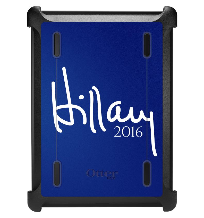 CUSTOM Black OtterBox Defender Series Case for Apple iPad Air 1 (2013 Model) - Hillary Clinton 2016
