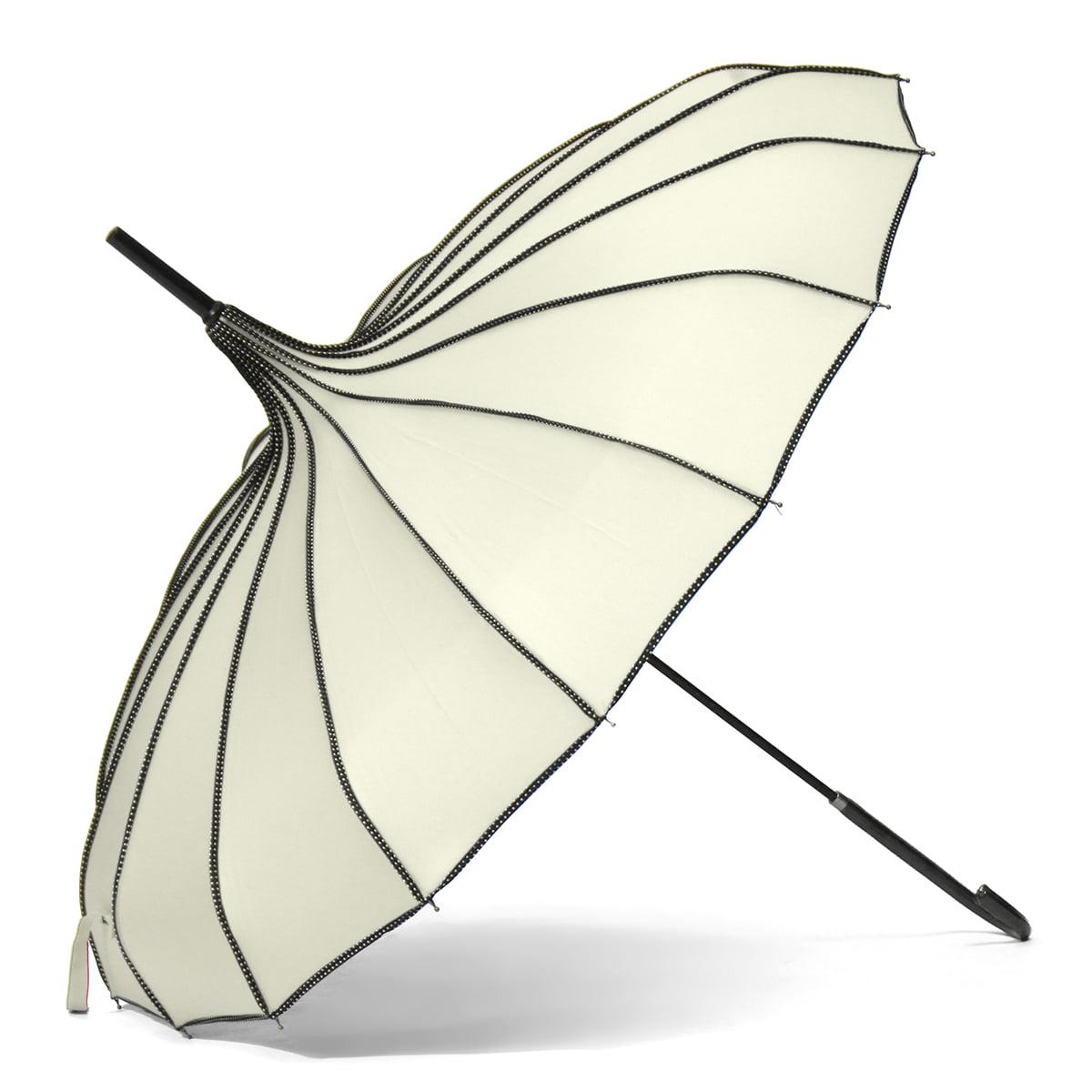 Women/'s Colorful Pagoda Vintage Umbrella Windproof UV Parasol Rain Umbrella