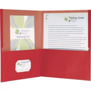 Oxford EarthWise Recycled Twin Pocket Folders, Red, 25 / Box (Quantity)