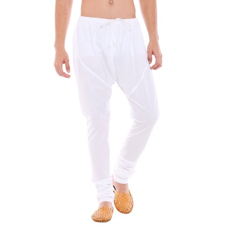 In-Sattva Men's Traditional Indian Style Pure Cotton Solid Churidaar Pants