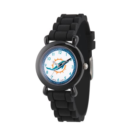 Gametime Badger Watch (GAMETIME NFL Kids' Black Plastic Time Teacher Watch, 1-Pack)