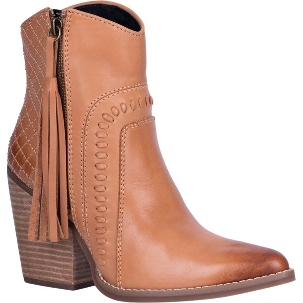 Dingo Womens Dream Big Ankle Boots Leather Tan 9.5 M