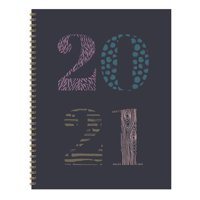 """2021 Patterned Year Purple Large 8.5""""x11"""" Weekly Monthly Planner + Coordinating Planning Stickers"""