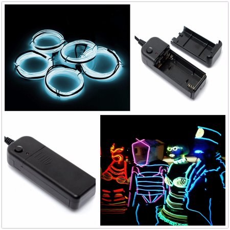 SOLMORE 5x1 Metre EL Wire Neon Glowing Strobing Glowing Strobing LED USB Waterproof Home Decor Light Party Wedding Halloween Decoration](Date Of Halloween 2017 Usa)