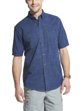 3db67dbd9898 Product Image Arrow Men's Coastal Cove Crosshatch Short Sleeve Button Down  Shirt