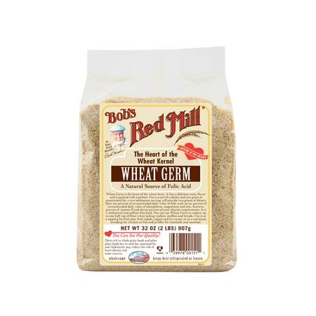 (2 Pack) Bobs Red Mill Natural Raw Wheat Germ, 32 Oz Bobs Red Mill Natural