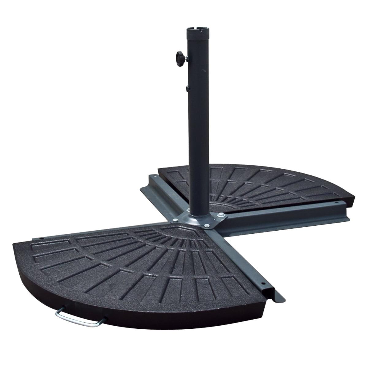 10u0027 ft feet patio umbrella 30 lb resin base stand outdoor for aged metal decor walmartcom