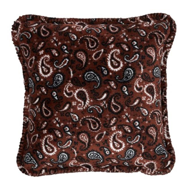 Denali Home Collection 35024718 Sable Paisley Square Microplush Pillow