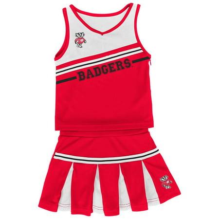 Infant Girls' University of Wisconsin Badgers Cheerleader Outfit (Cheerleader Girls Outfit)