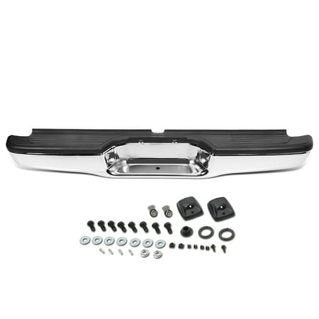 For 1995 to 2004 Toyota Tacoma Chrome Finish Stainless Steel Rear Step Bumper Face Bar Assembly w/ License Plate Light 96 97 98 99 00 01 02 (2004 Toyota Tacoma Double Cab For Sale)
