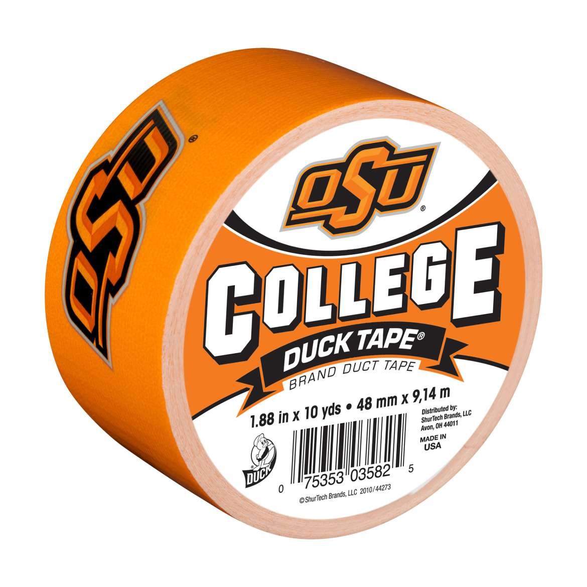 Duck Brand College Logo Duct Tape, 1.88 in. x 10 yds., Oklahoma State Univ. Cowboys