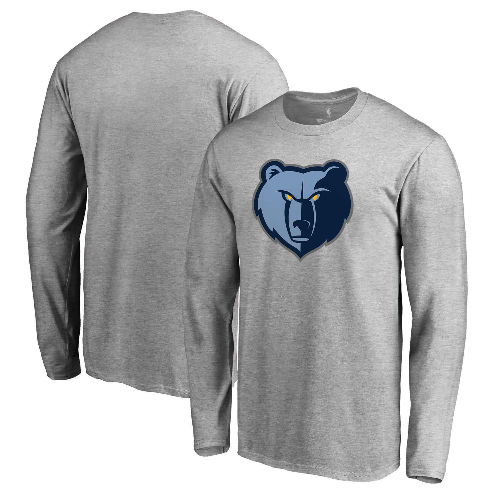 Memphis Grizzlies Fanatics Branded Primary Logo Long Sleeve T-Shirt - Heather Gray