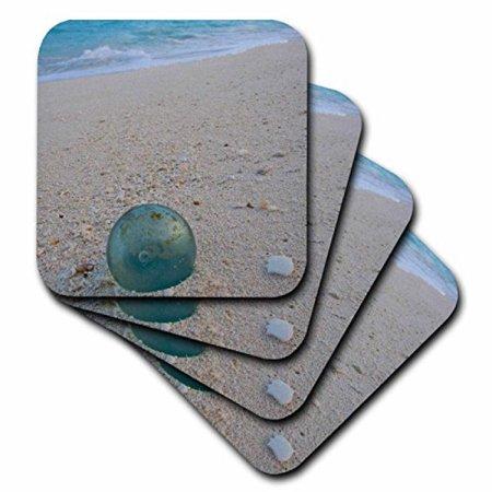 3dRose NW Hawaiian Islands, Midway Atoll, fishing float - US12 RJA0006 - Rebecca Jackrel, Ceramic Tile Coasters, set of 4