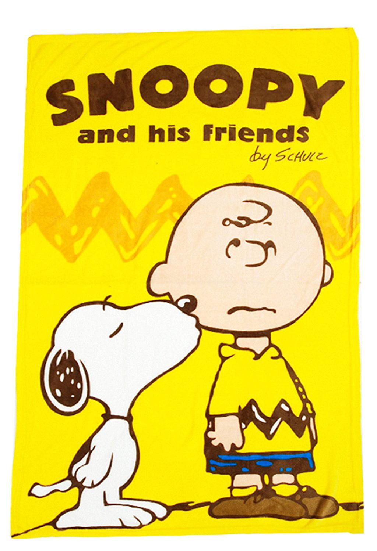 "Peanuts Snoopy Fluffy Nap Soft Blanket 40""x 60"" (100 cm x 150 cm). by"