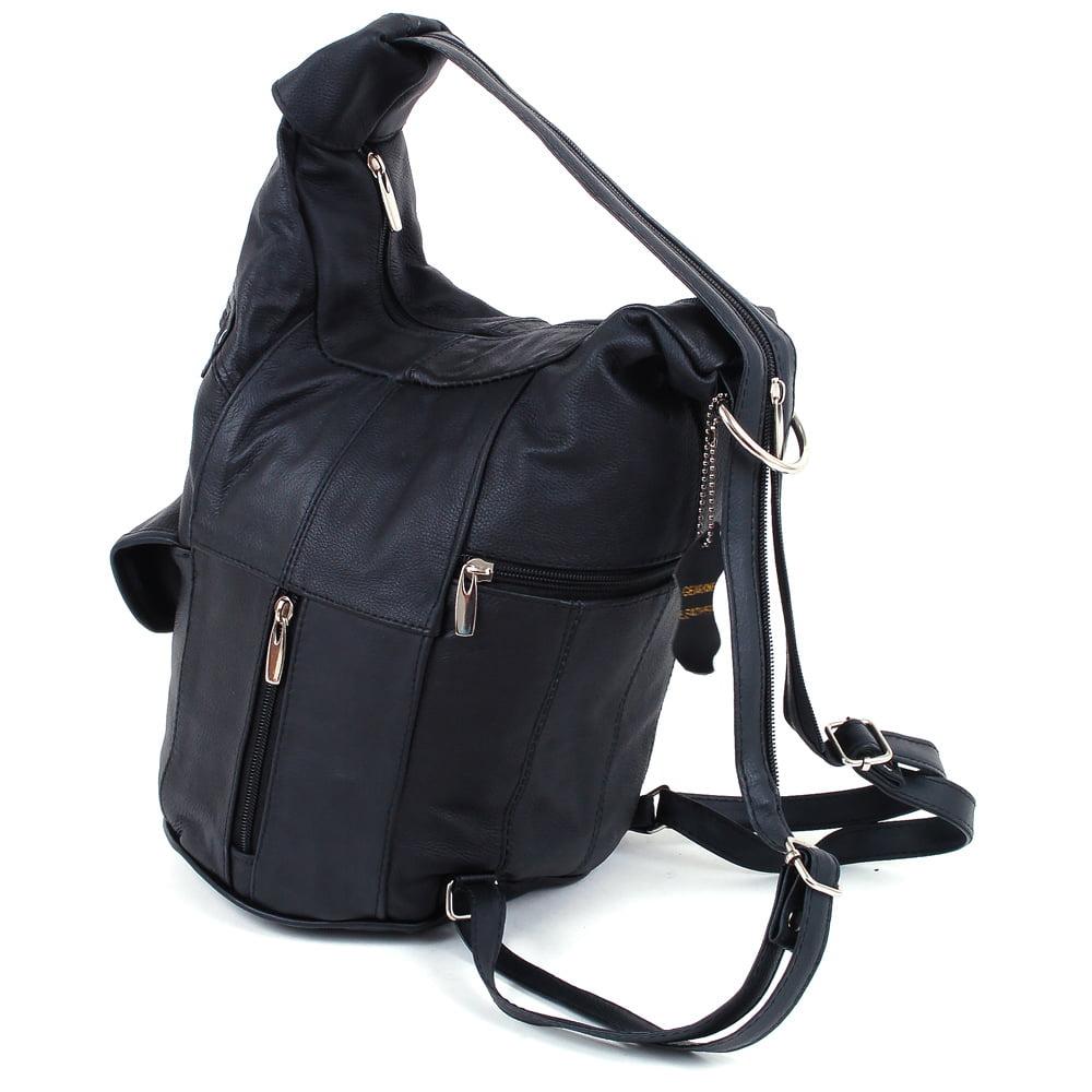 Womens Leather Backpack Purse Sling Shoulder Bag Handbag 3 in 1 ...