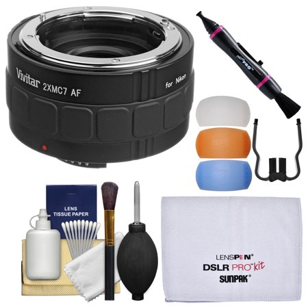 Vivitar Series 1 2x 7 Elements Teleconverter with Flash Diffusers + Cleaning Kit for Nikon Digital SLR Cameras & Lenses ()