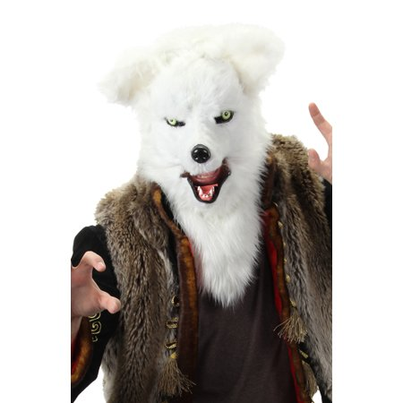 Mouth Mover White Fox Costume - Moving Mouth Masks