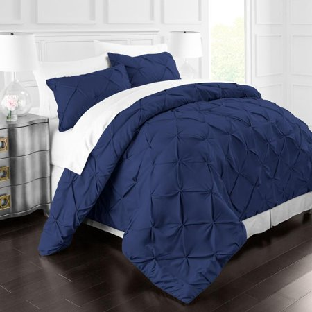 Park Hotel Collection 3 Piece Pinch Pleat Duvet Cover Set by Noble