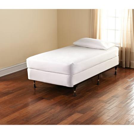 Adjustable Metal Bed Frame Brown Walmart Com