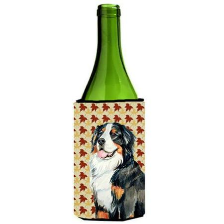 Bernese Mountain Dog Fall Leaves Portrait Wine Bottle  Hugger - 24 oz. - image 1 de 1