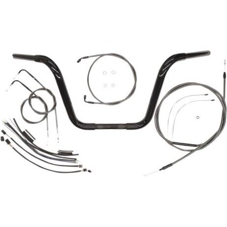 Magnum 48891-112 12in. Ape Hanger Bar Kit for 1 1/4in. Caliber Handlebar Installation Kit - Black
