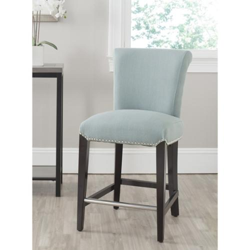 Safavieh 25.9-inch Seth Sky Blue Counter Stool by Overstock