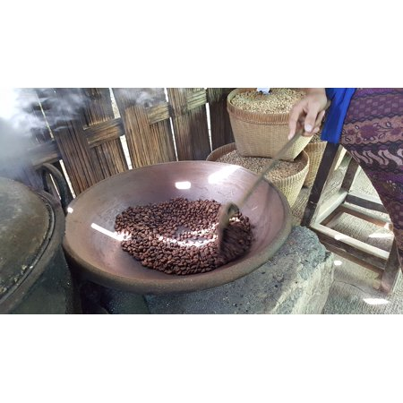 Canvas Print Coffee Making Coffee Bean Coffee Coffee Roasting Stretched Canvas 10 x (Best Drip Coffee Beans)
