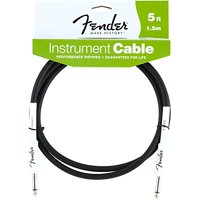 Performance Series Instrument Cables (Straight-Straight Angle) for electric guitar, bass guitar, electric mandolin, pro audio, Extra thick 8mm diameter black PVC jacket.., By Fender