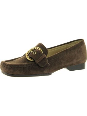 Nine West Girls Youth Hillary Slip On Csaual Loafers, Brown., 12.5