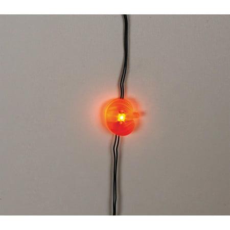 Darice Moon Lights: 20 Orange Pumpkin LED Lights, Black