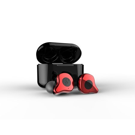 Sabbat E12 TWS Wireless Bluetooth Headphones 5 0 Auto-Pairing In-ear Sports  Headset Red