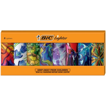 BIC Special Edition Blown Glass Series Lighters, Set of 8 Lighters ()
